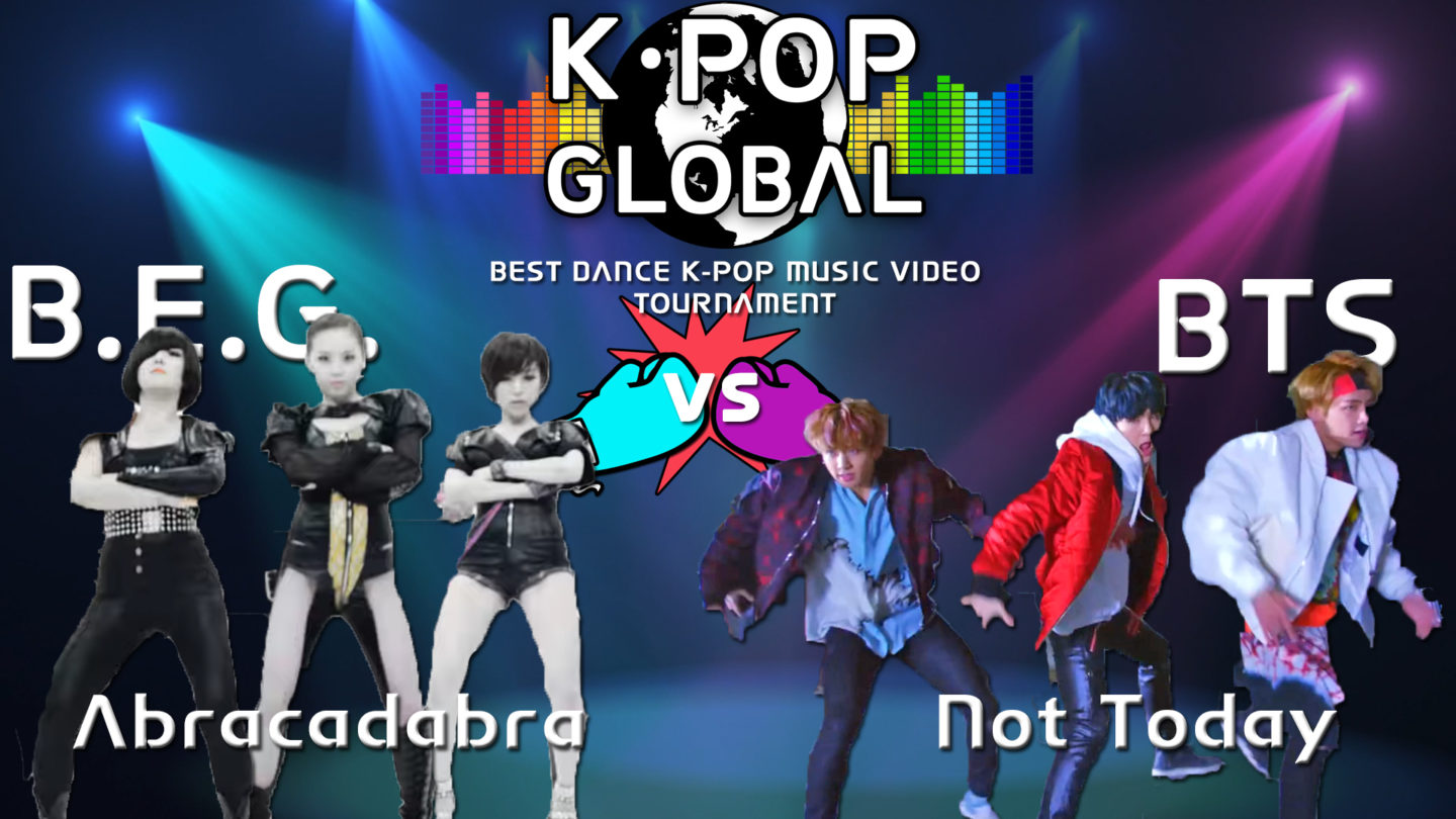 Brown Eyed Girls (Abracadabra) vs BTS (Not Today)